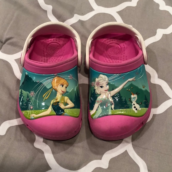 27f5cfabd CROCS Other - DISNEY S FROZEN FEVER CROCS GIRLS SIZE 6-7